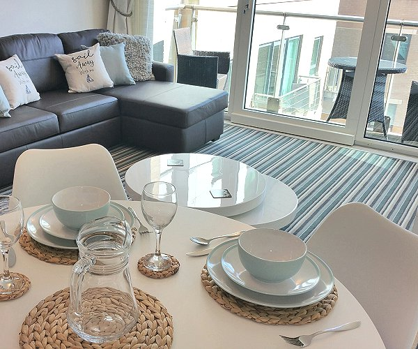 Poole Holidays - Lounge/Dining Area with Harbour Views