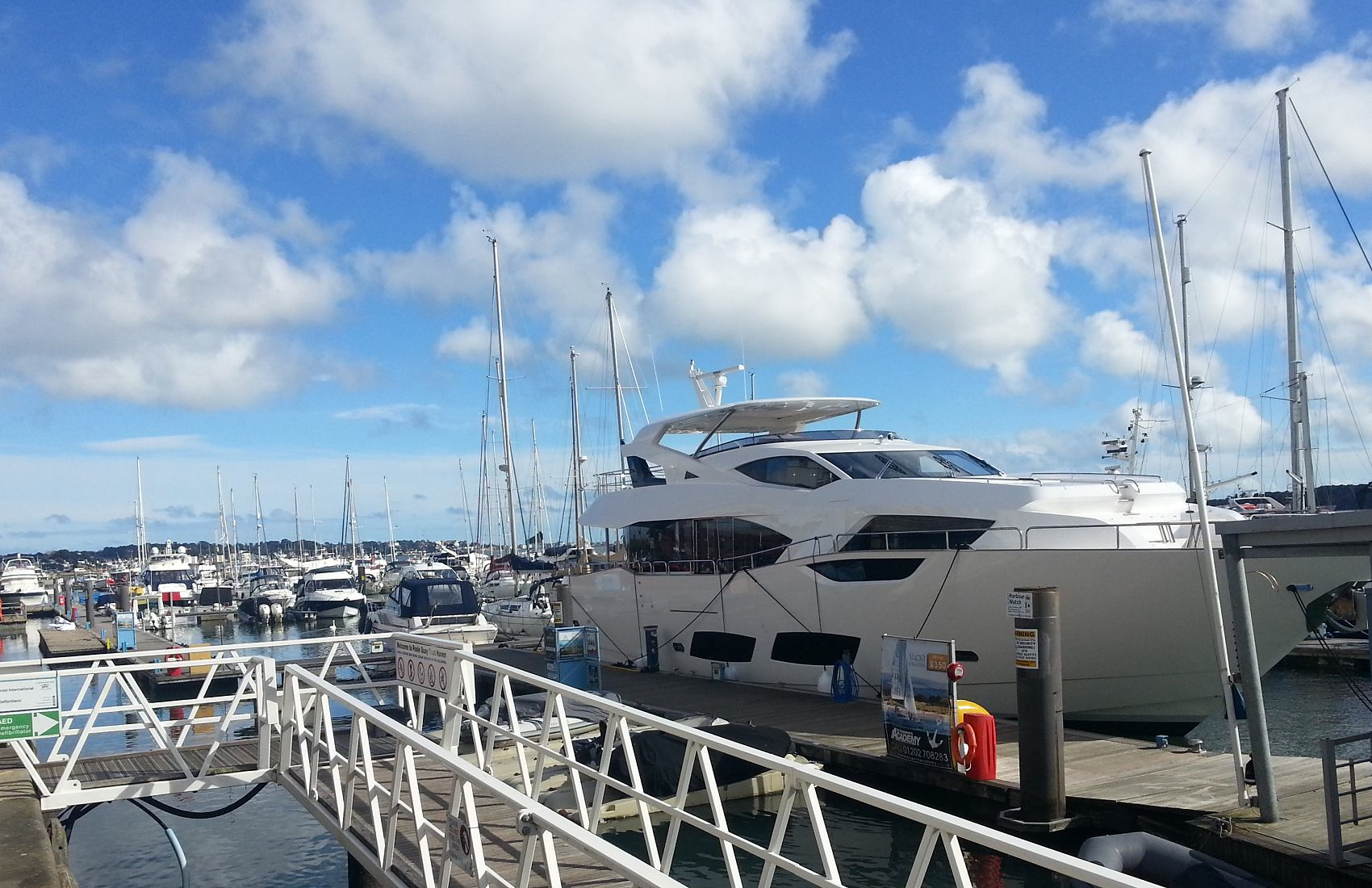 View of Poole Marina Superyacht Berths